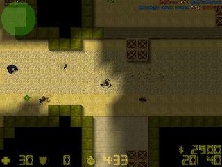 Counter-Strike 2D Clone aus der Vogelperspektive.