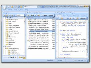 Bibliothek mit über 10.000 Zeilen Quellcode für ASP Entwickler.