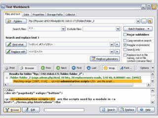 Suchen und Ersetzen von Texten in beliebig vielen Dateien gleichzeitig.
