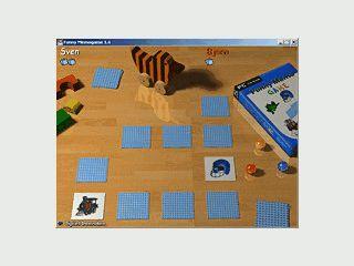 Ein Merk-Spiel für Kinder mit sehr hübscher 3D Grafik
