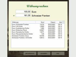 Währungsrechner mit automatischer Kursaktualisierung für beliebige Währungen.