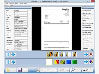 Software zum schnellen Schreiben von Rechnungen mit bis zu 24 Positionen.