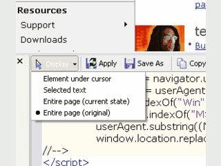 Erweiterung für den Internet Explorer um Quelltexte von HTML Seiten anzusehen.