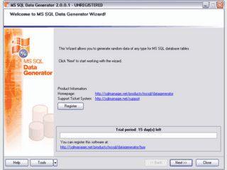 Testdaten für MS SQL Datenbanktabellen erzeugen.