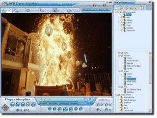 Player für Videos und DVDs mit Echtzeit-Effekten.