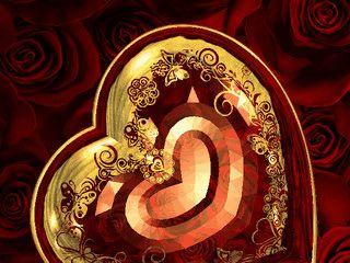 Romantischer Bildschirmschoner zum nächsten Valentinstag.