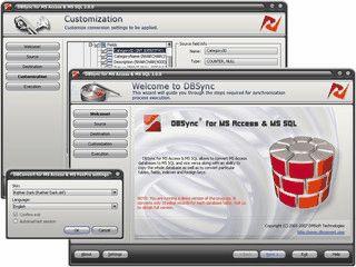 Konvertierung und Synchronisierung von MS SQL- und MS Access-Datenbanken.