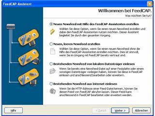 Software für das Erstellen, Bearbeiten und Erweitern von RSS- und Atom-Newsfeeds