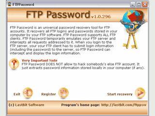 Universelles Tool, das gespeicherte Passwörter von FTP-Clients aufdeckt.