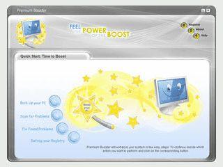 Premium Booster bietet verschiedene Werkzeuge zur Optimierung von Windows