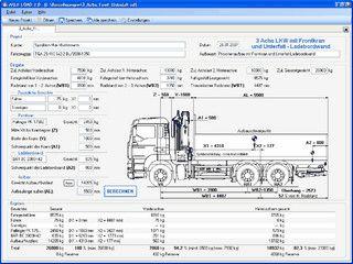 Fahrzeugbau - Achslastberechnung bei LKW und Nutzfahrzeugen