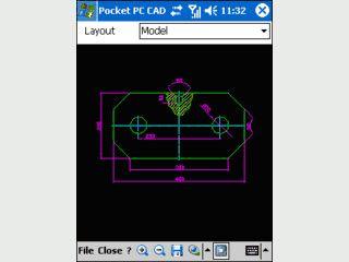 Betrachter für AutoCAD Dateien auf dem PDA