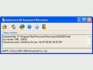 Verlorene Passwörter für verschiedene Instant Messenger entschlüsseln.