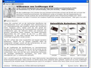 ActiveX Tool zum Auslesen von Krankenversichertenkarten.