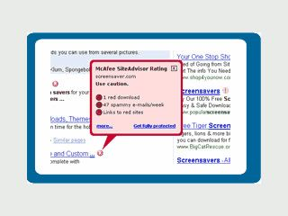 Erweiterung für den Internet Explorer zum Schutz gegen gefährliche Webseiten.