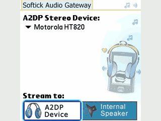 Beliebige Audiodaten via Bluetooth Headset vom Palm anhören.