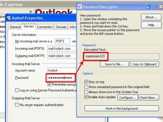 Passwörter die sich hinter **** verbergen, können sichtbar gemacht werden.