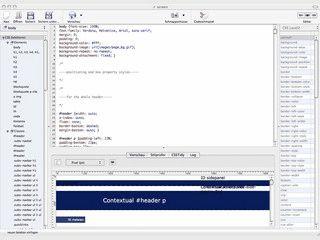 Stylesheet Editor für Macintosh Computer.