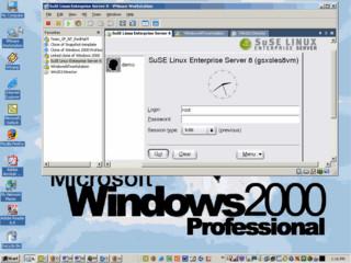 Virtualisierung von Computerhardware zur Nutzung mehrerer Betriebssysteme.