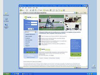 Per Internet-Browser erhalten Sie weltweiten Zugriff auf Ihren Computer.