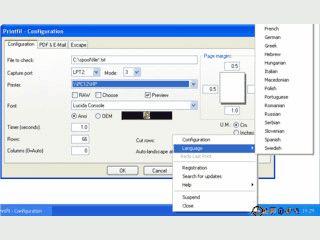 Erlaubt zeichenorientierten Applikationen auf Windows-Drucker auszudrucken
