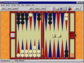Spielstarkes Backgammon mit ansprechender Grafik und vielen Features.