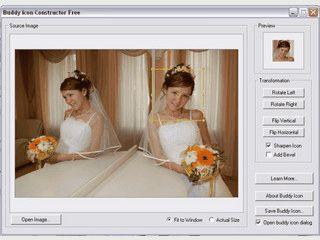 Erstellt ein einfaches GIF als so genanntes Buddy Icon.