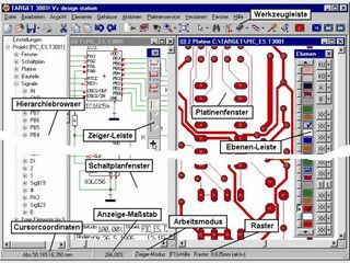 Leiterplatten Layout Software mit Schaltplan, Simulation, Layout und Autorouter.