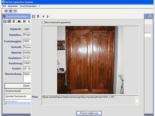Software für Sammler von Kunst und Antiquitäten.