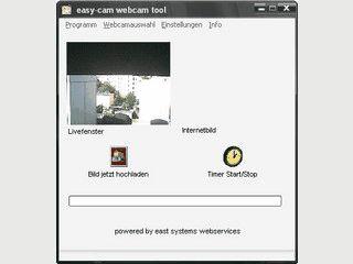 Überträgt Webcambilder auf einen Server und fügt Wetterinformationen hinzu.