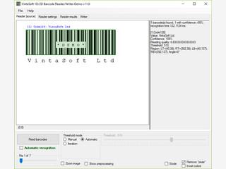 Lesen und Schreiben von 1D-2D Barkodes in .NET, WPF und Silverlight.