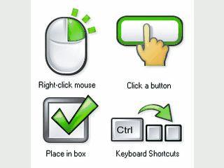 Icons für Software-Entwickler und Verfasser von technischen Dokumentationen.