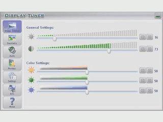 Tool zur einfachen Einstellung von Monitoreinstellungen.