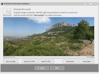Panoramabilder zusammensetzen und als EXE oder HTML-Seite speichern.