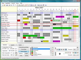 Kalender zur Planung von beliebigen Terminen wie z.B.: Urlaub, Belegungen usw.