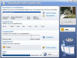 Konvertiert und brennt Videoformate zur Verwendung als DVD, VD und SVCD