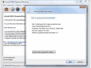 Tool zur Wiederherstellung von Passwörtern die MS Excel Tabellen schützen.