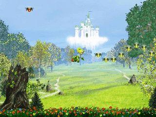 Begleiten Sie eine Fee auf ihrem Flug durch wunderschöne,animierte Landschaften