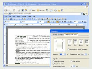Programmierbare, serverseitige Textverarbeitungs-Komponente.