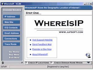 Ermittelt anhand der IP Adresse den Ort eines Server oder Surfers.
