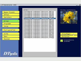 Desktopkalender und Bildschirmschoner erstellen und beliebig weiter geben.