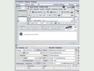 Verwaltung für den Postein- und Ausgang inklusive Emails.