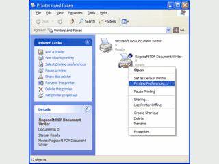 Virtueller Druckertreiber der jedes Dokument als PDF-Datei speichern kann.