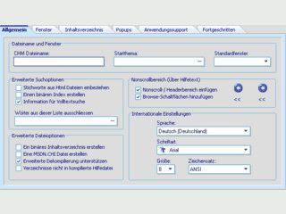 Editor für die Erstellung von Hilfedateien verschiedenster Formate.