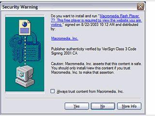 Installiert den Flash Player sowie die Browser Plugins zum Abspielen von Flash.