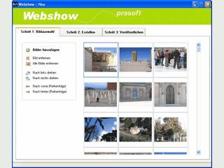 In drei Schritten können Sie eine Webshow mit eigenen Bildern erstellen.
