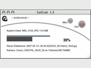 Importiert Dateien von der Digitalkamera und archiviert sie automatisch.