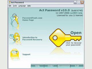 Passwort-Wiederherstellung für Act! Dokumente.
