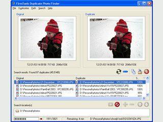 Findet doppelte Bilder und kann diese verschieben, kopieren oder löschen.