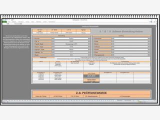 MS Excel Tabelle zur Erfassung und Überwachung von Wartungsintervallen.